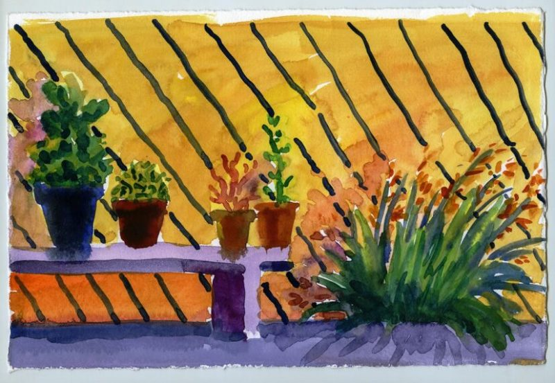 Garden Fence and Bench