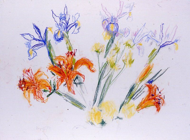 Irises and Lilies