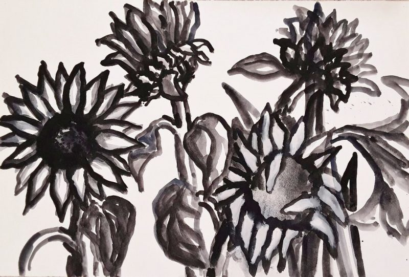 Sunflowers and Artichokes